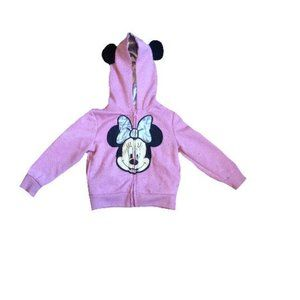 Disney Girls Minnie Mouse Hoodie Size 3T